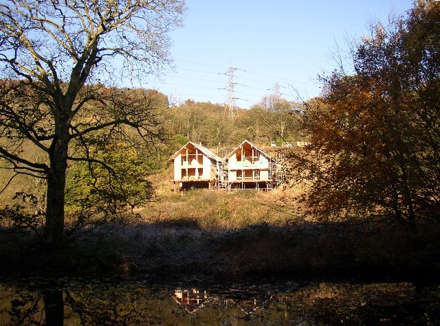 Houses half-built in the woods, Southowram
