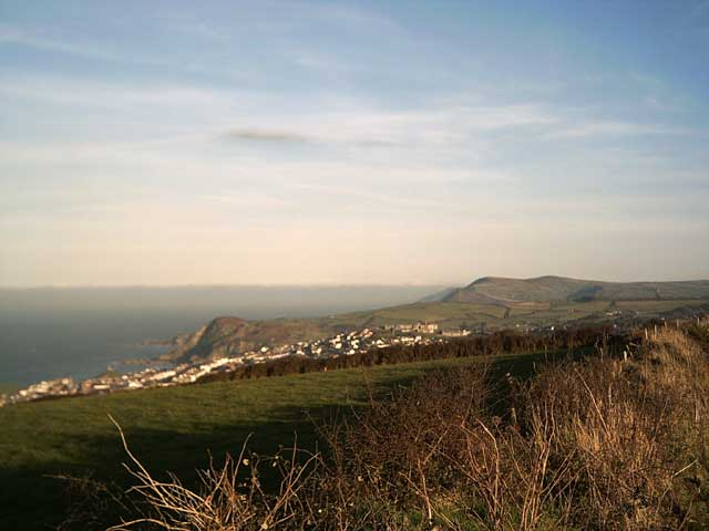 View of Ilfracombe and Exmoor from Lee Down