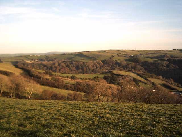 Farmland above Higher Slade Farm