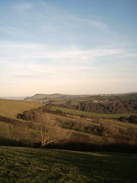 View of Exmoor from Lee Down