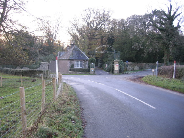 Armathwaite Hall entrance.