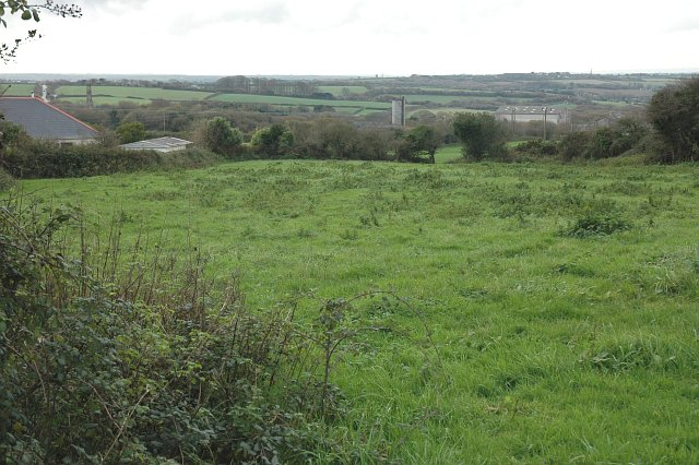 A field below the China Clay Works
