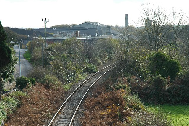 China Clay works near Lanjeth