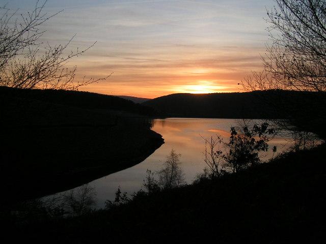 Sunset over Kinder Reservoir