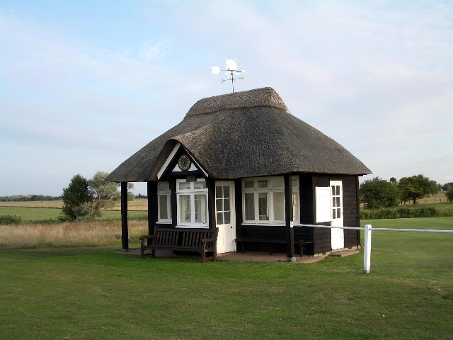 Starters hut at 1st hole on Royal St George's Golf Club
