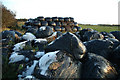 NY0232 : Frost covered silage bales by Phil Gravell
