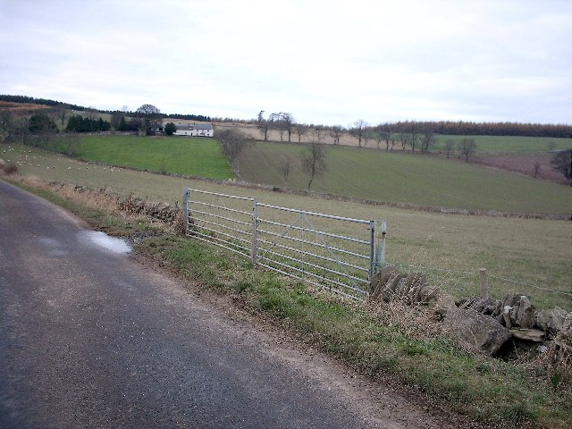 Farm Gate near Mains of Rochelhill