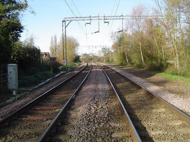 Stanstead St. Margarets: Railway line