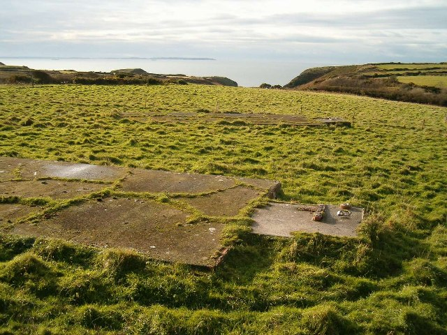 Hut bases at Nine Wells, Pembrokeshire