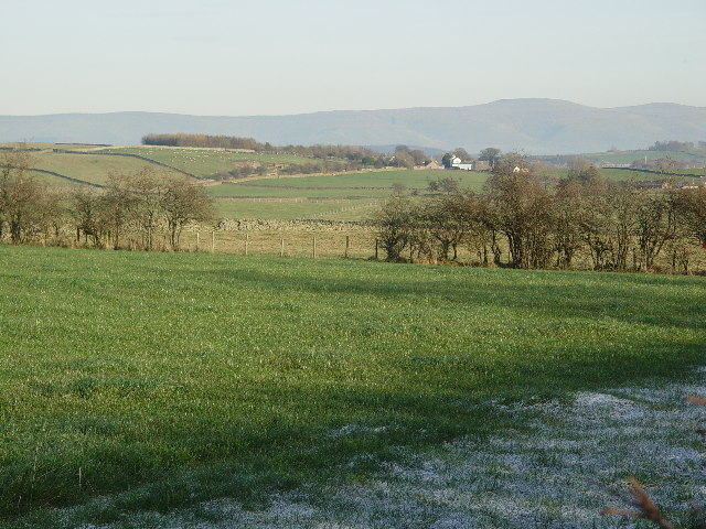 Farmland near Whitbarrow Hall