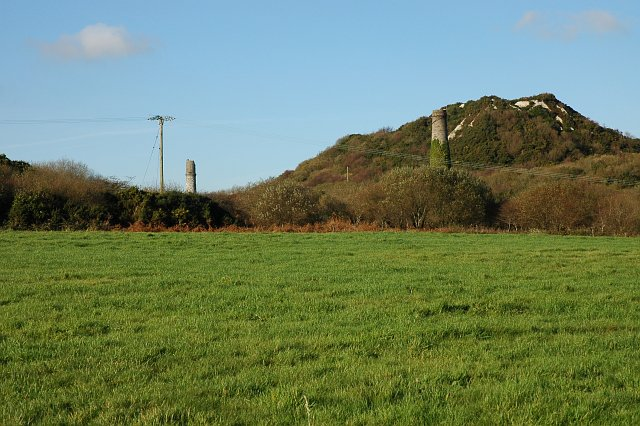 Disused China Clay Works near Goonamarris