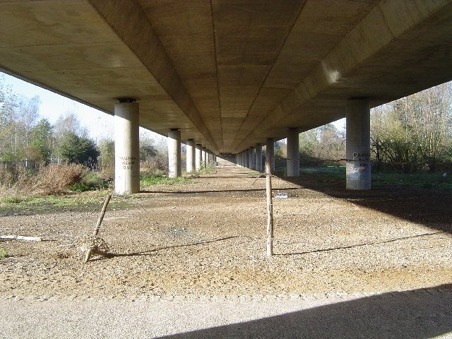 Under the A414 road