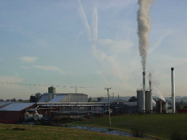 Factory pumping out pollution