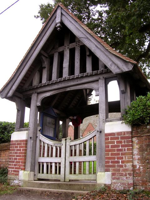 The lych gate at Christ Church, Emery Down, New Forest