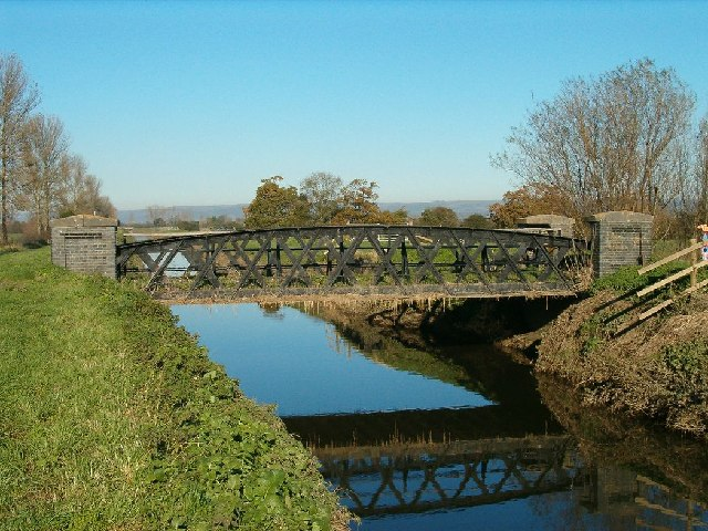Disused Railway Bridge and River Brue