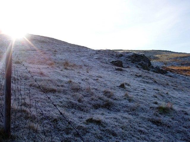 Llethr Llwyd on a frosty morning
