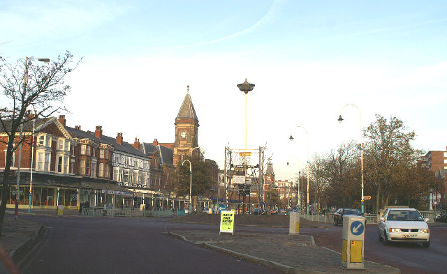 Roundabout at western end of Lord Street