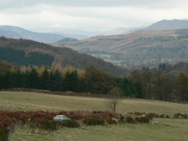 View towards Comrie