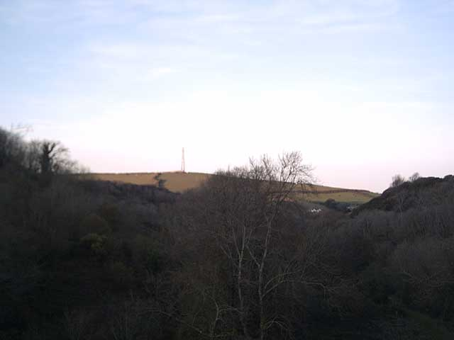 View of Lee Down from Upper Slade Reservoir