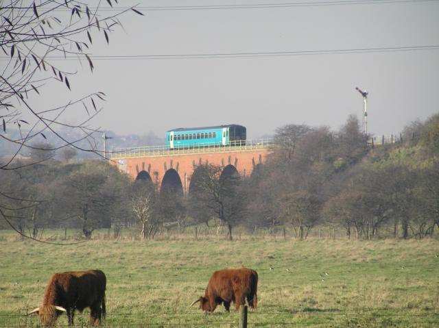 Railcar on Beighton Viaduct
