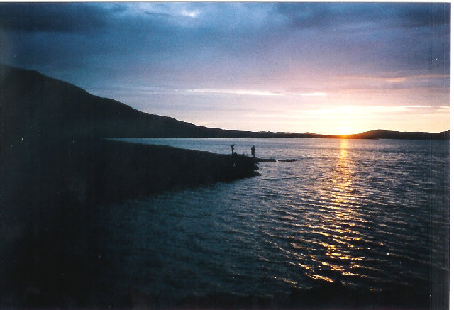 Sunset over Taransay.