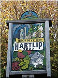 TQ8364 : Hartlip village sign by Penny Mayes