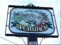 TQ8467 : Upchurch village sign by Penny Mayes