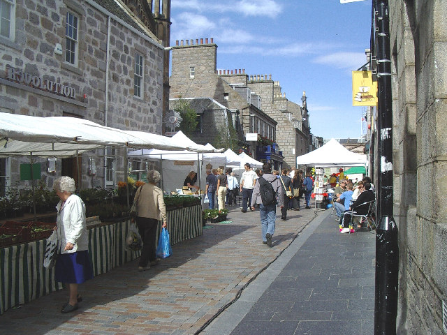 Belmont Street Market, Aberdeen.