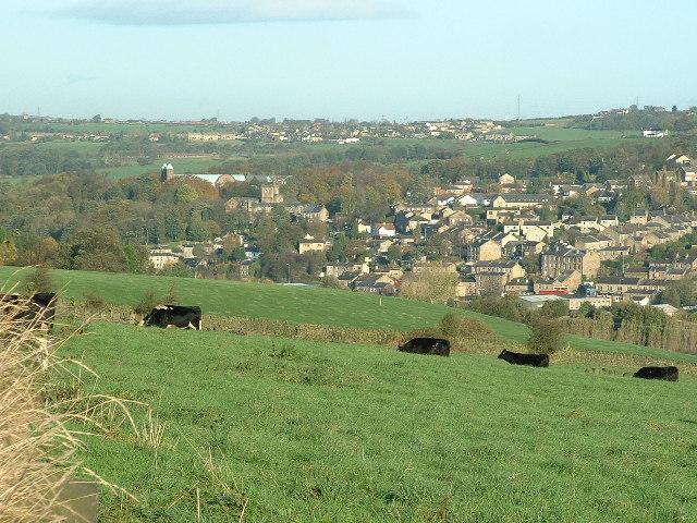 across farmland towards Battyeford