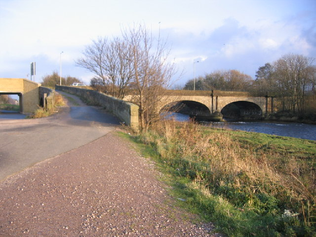 River Derwent bridge at Workington