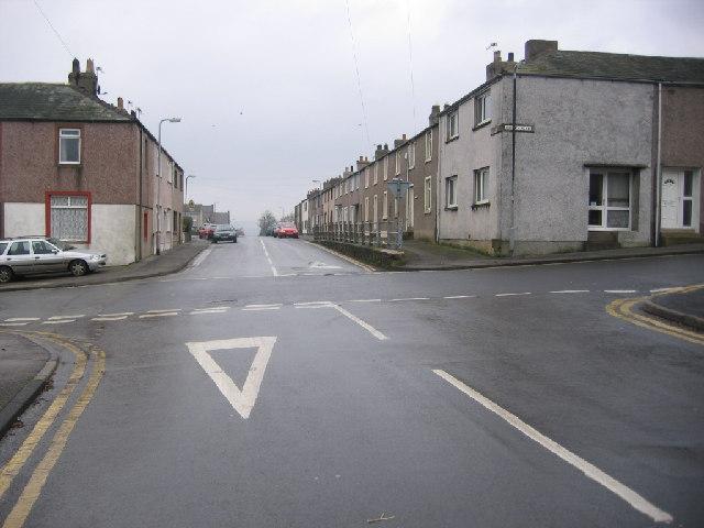 Broughton Moor crossroads.