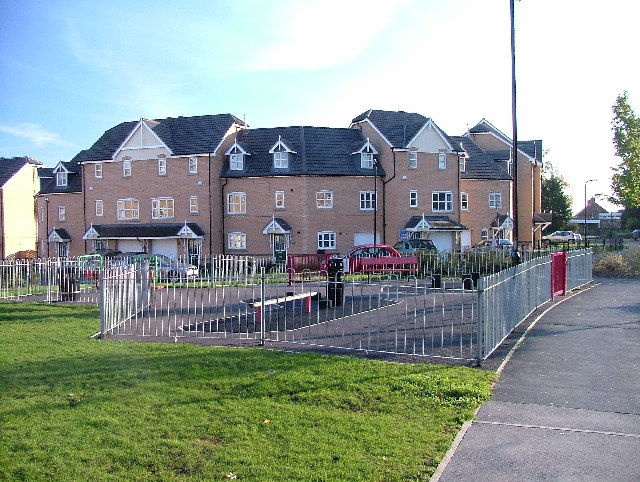 New housing on the site of the old Harrogate Hospital.