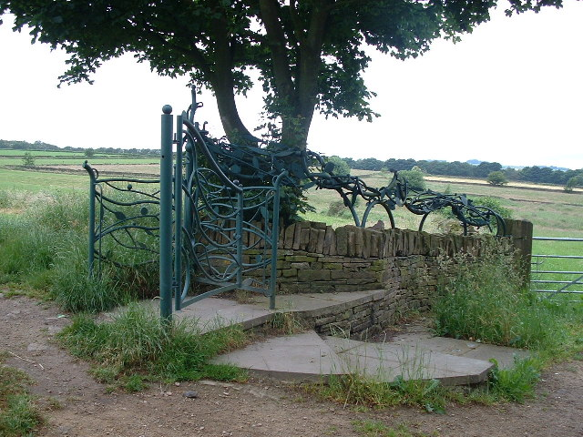 Ornate Gateway on the Kirklees Way