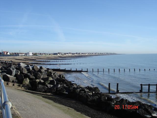Felpham seafront looking east