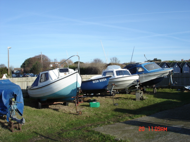 Small fishing boats at Felpham