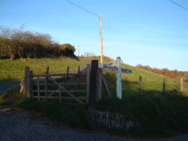 Road into Ashill, Northern side of village