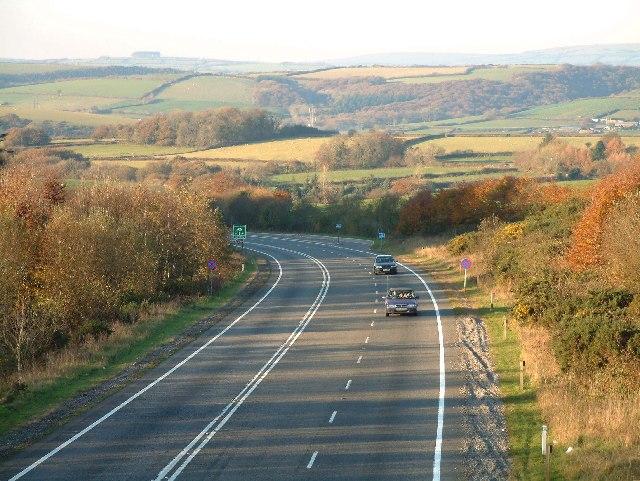 North Devon link road by South Hayne Plantation