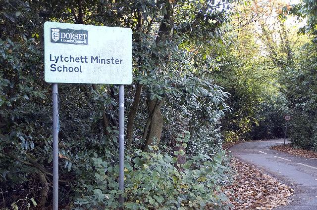 Entrance to Lytchett Minster School, Dorset