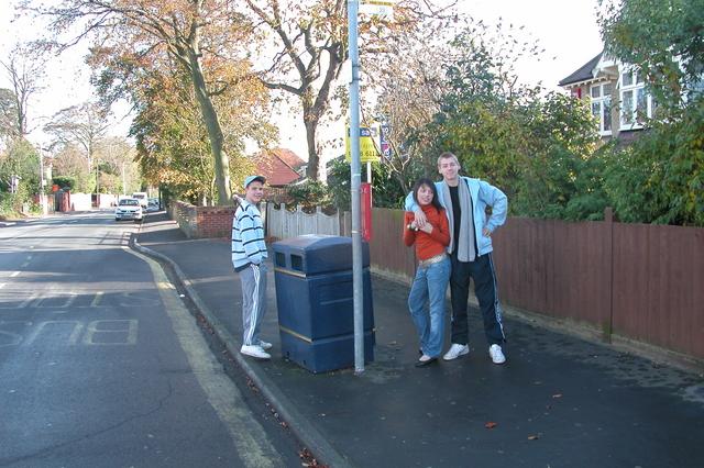 Waiting for a bus, Cosham