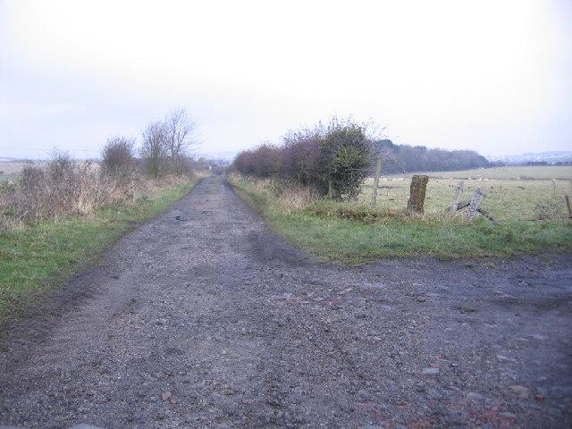 Farm track junction.
