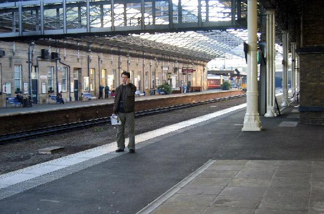 Inside Huddersfield Station