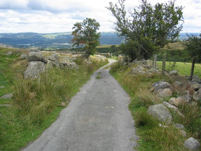 Single Track Lane above Roewen