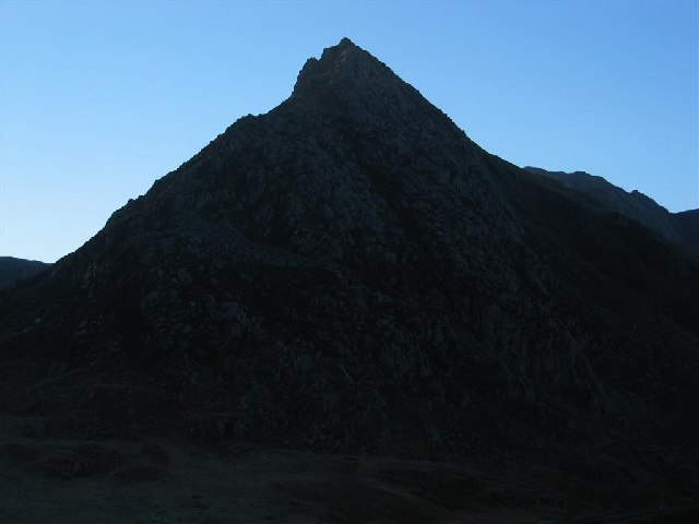 Tryfan, from below Pen yr Ole Wen