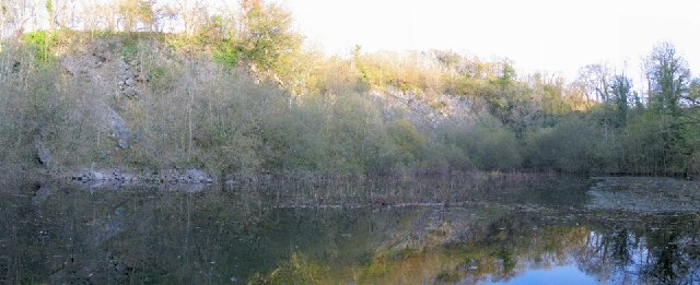 Former Pistyll lime quarry