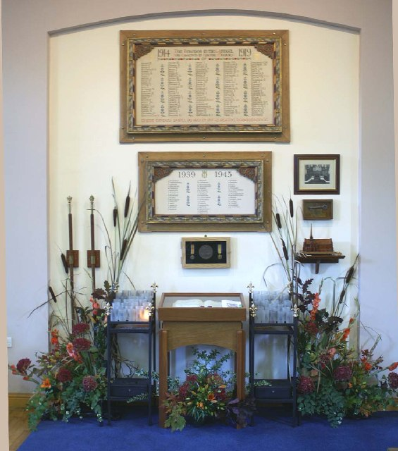 Memorial area, St. Mary's Church, Lower Ince