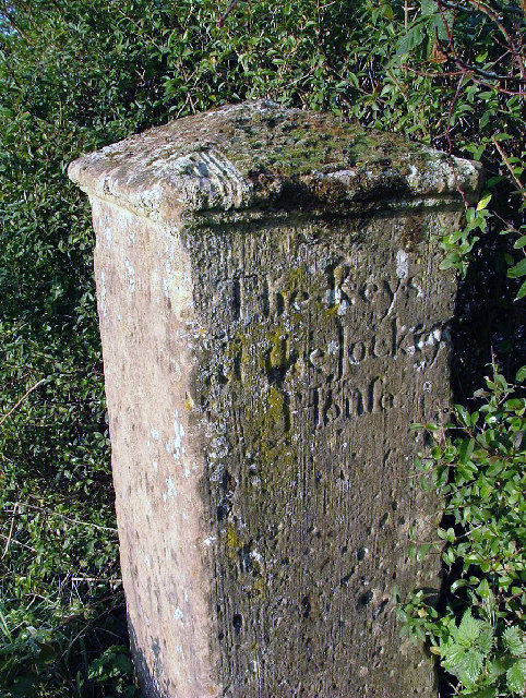 Milestone at Jockey House,Nr Retford Notts