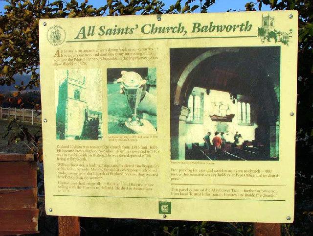 Information Board Babworth Church