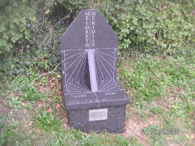 Greenwich meridian marker at Meldreth