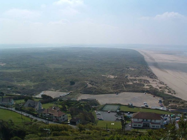 View of Braunton Burrows from Saunton Down