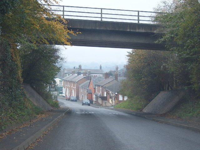 View under the A49 Prees Bypass